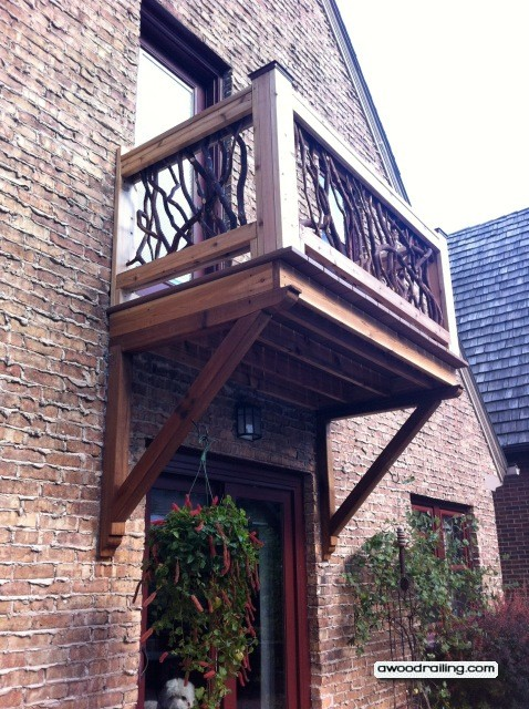 wood banisters