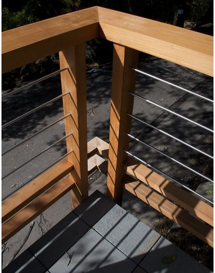 Stainless steel pipe railing idea deck ideas