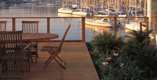 Cable Railing with Sailboats