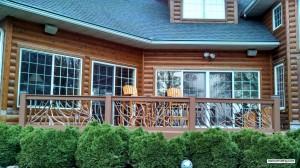 Deck Handrail Log Home