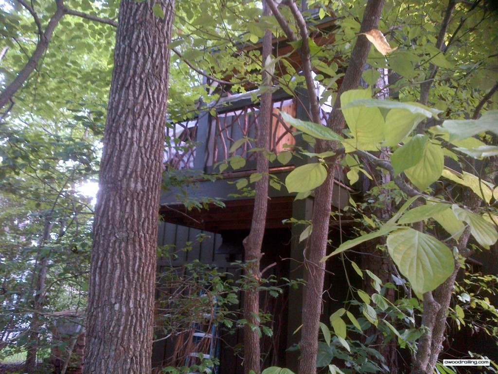 Leaves Railing Deck