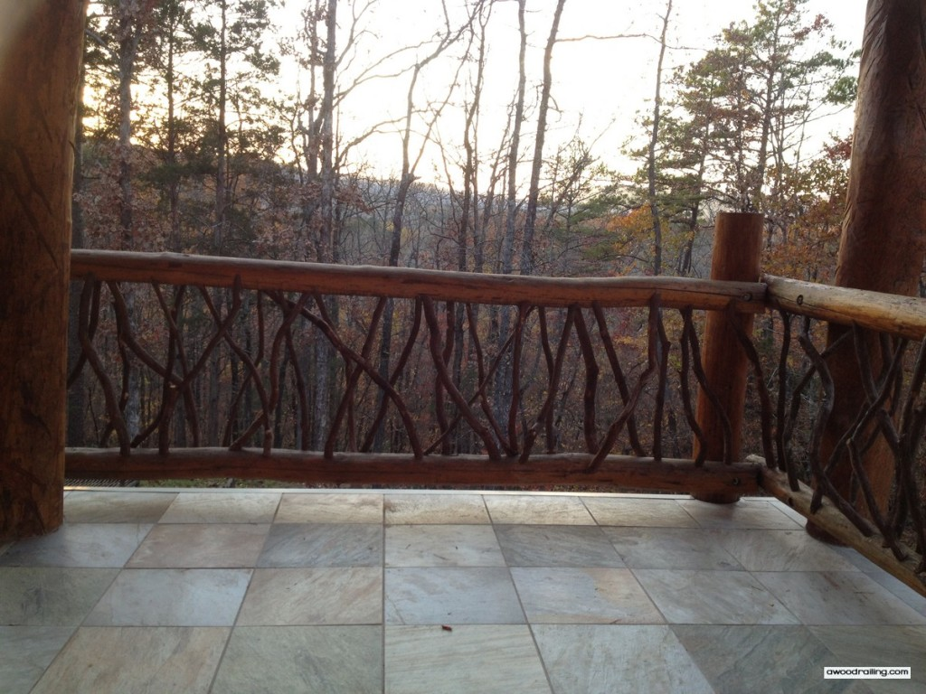 Log Railing Forest