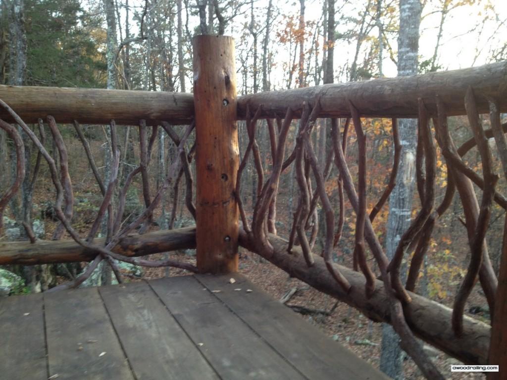 Log Railing Leafy