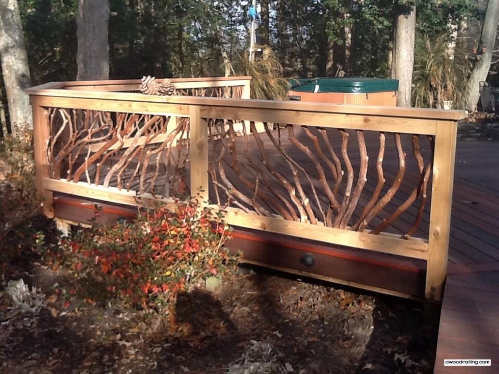 Pinecone Deck Railing