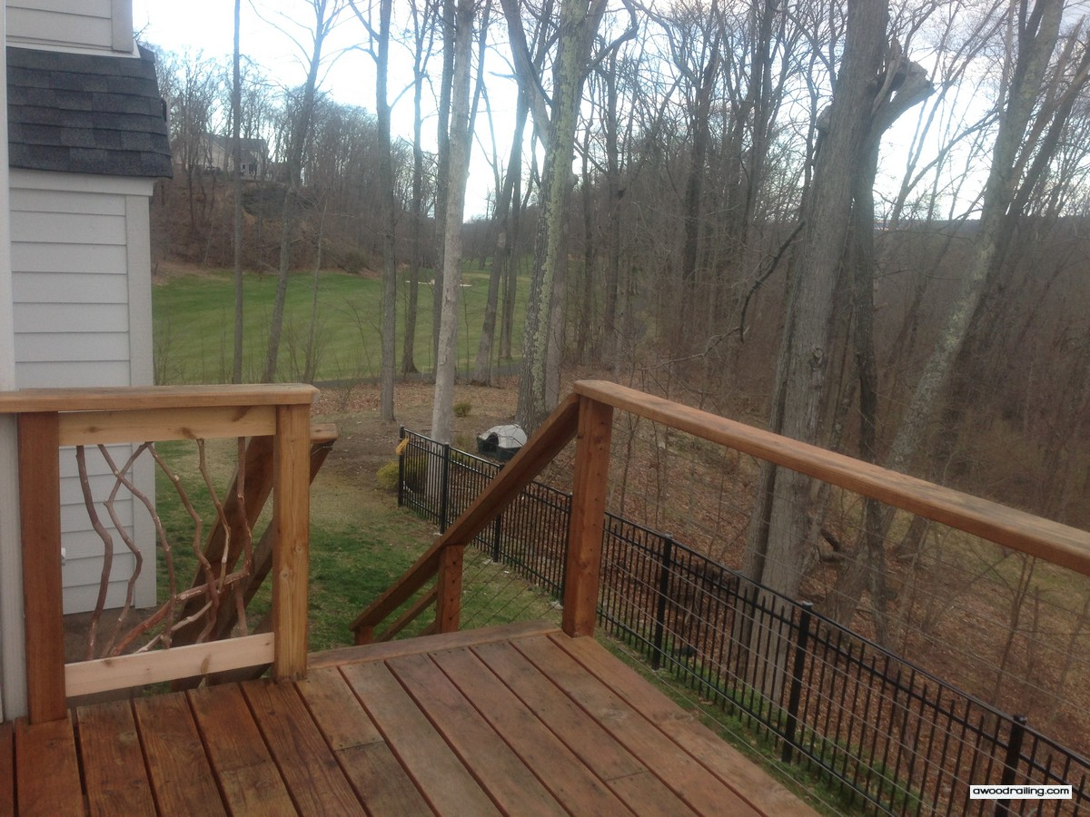 Deck railing ideas for your home find one for you part 2 for Timber decking handrail