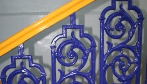 Blue Banister Rails