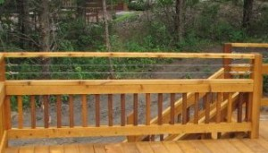 Cable Railing Above Wood 2x2