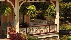 Circular Sunburst Porch Railing