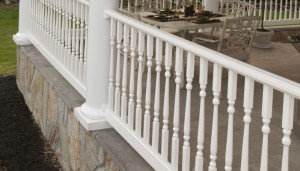 Contemporary Turned Baluster Porch Handrail