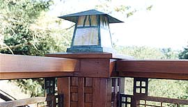 Craftsman Railing Post Cap Light