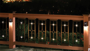 Craftsman Style Metal Balusters with Lights