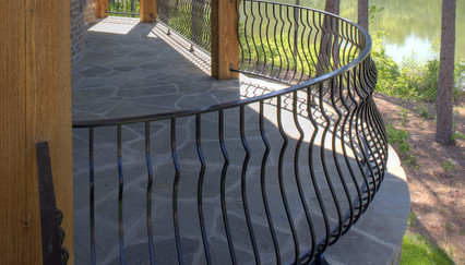 Curved Metal Railing Deck Railing Ideas