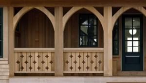 Diamond Jigsaw Porch Handrail