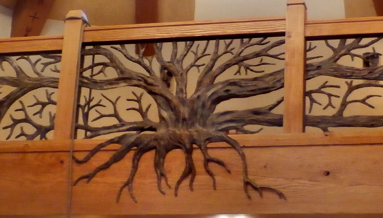 110619734567579935 also Forged Bronze Tree Railing besides Martha Stewart Kitchen Cabi s Perry Street besides Balloon Decoration further Floor Plan Of Santa Barbara. on mission style room ideas