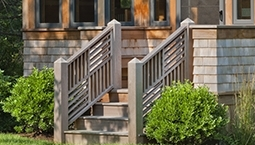 Four Quadrants Angles Wood Railing