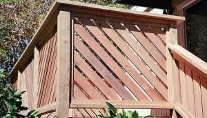 Framed Alternating Diagonal Wood Railing