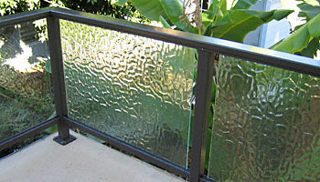 Frosted Glass Panel Handrail Deck Railing Ideas