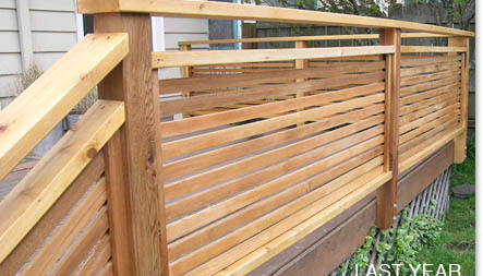 Deck railing ideas for your home find one for you part 9 for Timber decking handrail