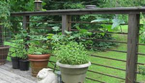 Horizontal Rebar Rustic Handrail