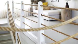 Horizontal Rope Railing Idea