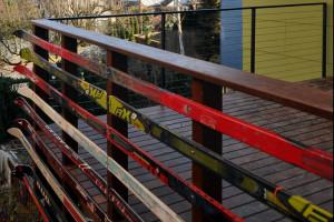 Horizontal Ski Deck Railing