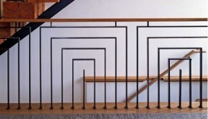 Inverted U Metal Railing Idea
