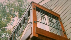 Ipe Deck Railing with Metal Balustrade
