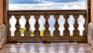 Italian Balcony Stone Railing