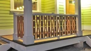 Jigsaw Circle Baluster Porch Railing