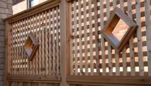 Lattice Railing with Diamond Portholes
