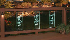 LED Lighted Glass Balusters