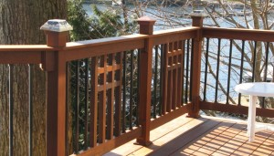Mission Wood Mixed with Metal Balusters