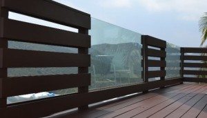 Mixed Glass Panel Horizontal Wood Boards