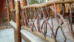 Moss Log Railing