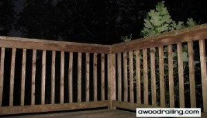 Night Wood Railing