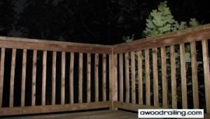 Night Wood Railing