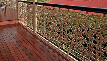 ornamental intricate wrought iron handrail