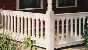 Oval Pattern Sawn Baluster Railing Deck Railing Ideas