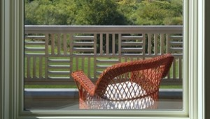 Parquet Style Wood railing