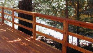 Rustic Triple Horizontal Railing