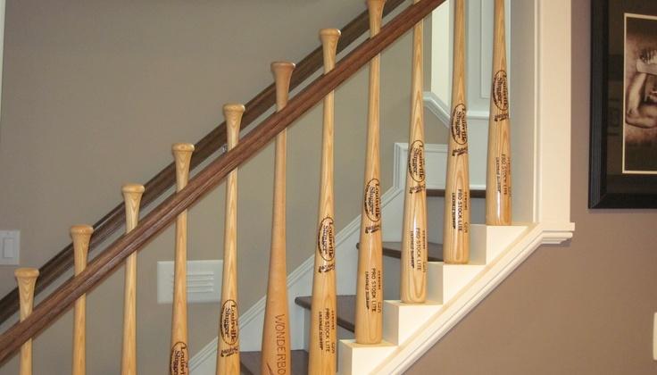 Baseball Bat Baer Stair Railing